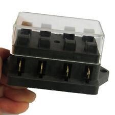 Sicherungskasten 4-fach Sicherungshalter Flachsicherungen 6-24 Volt KFZ Boot AT