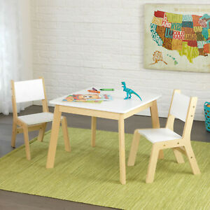 Kidkraft Modern Table and Chairs  | Wooden Play Table & Chairs