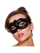 Adult Verona Eyemask Black Glitter Outfit Fancy Dress Halloween Masquerade Ball