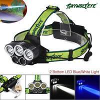 80000LM 5X X-XM-L T6 LED USB Headlamp 18650 Battery Head Torch Headlight Lamp GA