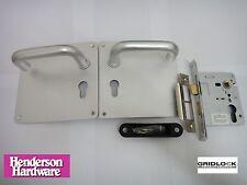 Manija de la puerta de Henderson hardware volver a Plaza Euro Placa & Euro sashlock