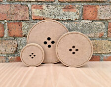 Free Standing Button Circle Craft Blank Shape Wooden MDF 150mm x 18mm Thick