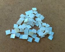 12 White Mother of Pearl Shell Square  Shapes  for Inlay 5 mm