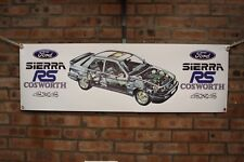 Ford Sierra Sapphire rs Cosworth 4x4 large pvc  WORK SHOP BANNER garage