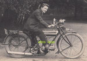 orig. Foto Motorrad Krad Triumph Hecker Wanderer BMW NSU D RAD Victoria [2041]
