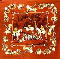 Authentic Hermes Paris France Hermès Silk Scarf Equestrian Fox Hunting Foxhound
