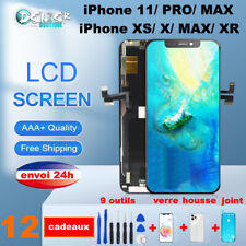 ECRAN LCD VITRE TACTILE CHASSIS iPhone 11 X/ XR/ XS Max OLED +Outils Verre Joint