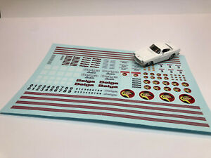 Huge DECAL sheet for custom diecast - Belga Rally Team - for 1/64 scale upwards