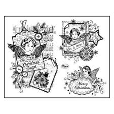 Viva Decor A5 Clear Silicone Stamps Set - Christmas Angels #93