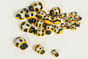High Quality Wood Bumble Bees Flatback Sprng Easte Crafts 3 Sizes Sponge Sticker