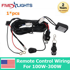 1X Remote Control Wiring Harness Kit Switch Relay Led Light Bar For 100W-300W 2M