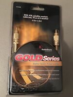 NEW RadioShack Mono Audio/Video Cable 6ft Gold Series DVD VCR Satellite Cable TV