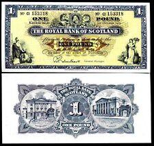 Royal BANK OF SCOTLAND. una libbra, serie ci, 1-10-1965, estremamente fine.