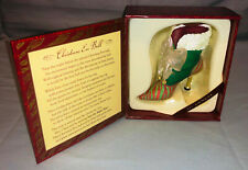 2001 Just The Right Shoe Christmas Eve Ball Boot 25220 New Never Displayed Mib