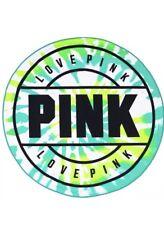 Victoria's Secret PINK LIMITED EDITION Round Beach Towel Green Blue Tie Dye NWT
