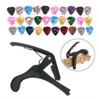 Guitar Capo Clip Quick Change Tune with 30 Guitar Picks for Acoustic Electric