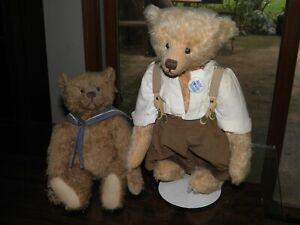 2 Audie Sison Artist Teddy Bears; Ripley and Philmore