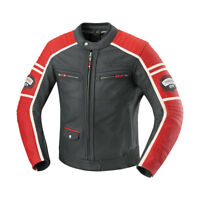 iXS Curtis Leather Motorcycle Jacket With Armor Black/Red Men's
