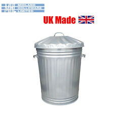 More details for 90 litre galvanised dustbin tapered heavy duty uk made!