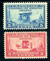 USAstamps Unused VF US Aeronautics Set Scott 649, 650 OG MNH