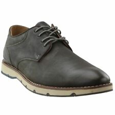Hush Puppies Mens Titan Leather Oxford Shoes New Without Box (Dark Grey, 9.5)