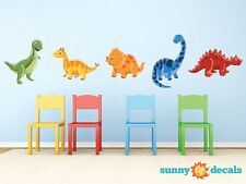Dinosaur Fabric Wall Decals, Set of 5 Adorable Dinosaurs