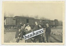 Foto Polen Bahnhof-Świnkówka-Soldaten 1943 2.WK (U626)
