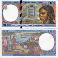 CENTRAL AFRICAN STATES CONGO 10,000 10000 FRANCS 2000 P 105 C AUNC