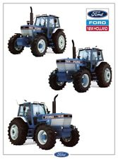 FORD TRACTOR TW35 TW25 TW15 7910 NEW HOLLAND SALES BROCHURE/POSTER ADVERT A3