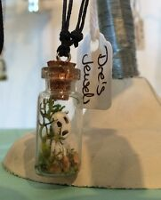 Studio Ghibli Tree Spirit In A Bottle Necklace. Princess Mononoke. Totoro.Kodama
