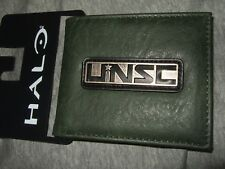 HALO Metal UNSC United Nations Space Command Military Video Game Bi-Fold Wallet