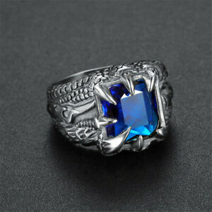 Vintage Mens Silver Stainless Steel Gothic Punk Biker Rings Jewelry lots Sz8-15