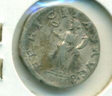 Septimius Severus Pius Aug Denarius 193-211 F/VF Felicitas