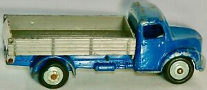 DINKY #414 DARK BLUE DODGE REAR TIPPING WAGON WITH GRAY HUBS MADE N ENGLAND 1955