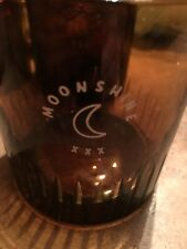 """Moonshine 4 Cut CRYSTAL BROWN Whiskey Glasses   3 1/2"""" Tall 3 1/4"""" Wide"""