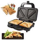 Deep Fill 900W Sandwich Toaster Toastie Maker Non Stick Stainless Steel Machine