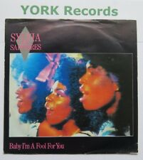 """SYLVIA & THE SAPPHIRES - Baby I'm A Fool For You - Ex 7"""" Single Stiff BUY 162"""