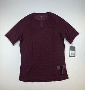 RAPHA Merino Mesh Base Layer Short Sleeve Burgundy Size XL New
