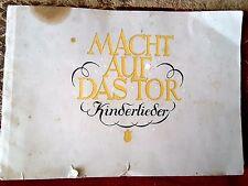 Rare 1948 German Childrens Songs Macht auf das Tor Kinderlieder Albert Kranz