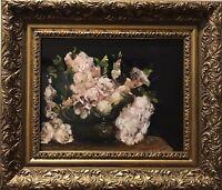 Vintage Original Painting Ölgemälde Rose Impressionismus Realismus Barock