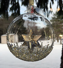 Swarovski Christmas Ball Ornament 2014 2nd in Series #5059023 Coa New/Box $100