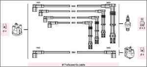 KIT CAVI CANDELA VW GOLF II 1.8 GTI 16v GOLF III 2.0 GTI 16v