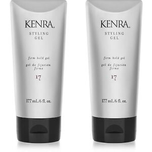 2 PACK!!! KENRA STYLING GEL #17 FIRM HOLD 6 OZ ALCOHOL FREE NO FLAKE VOLUMIZER