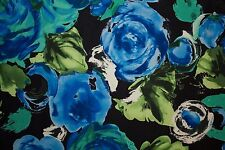 Floral Poplin Print #10 Cotton Lycra Spandex Stretch Woven Apparel Fabric BTY