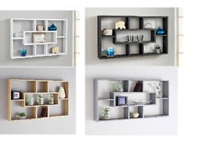 Space Saving Multi-Compartment Wall Shelf Stylish & Attractive Storage Unit