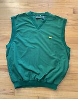 Masters Pullover Vest Windbreaker Men's Size L Augusta National logo  GREEN EUC