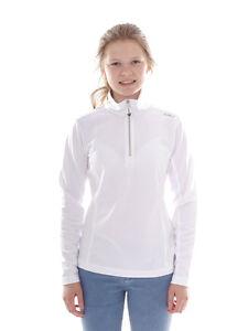 CMP Sweatpullover Top Collar Shirt White half Zip Breathable