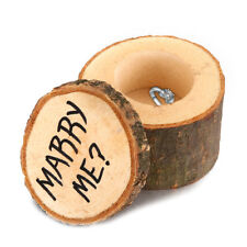 Wooden Ring Box Country Style Wedding Ring Box MARRY ME Pattern Vintage Ring Box