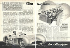 Mercedes-Benz W 196 Formel 1 Rennwagen Silberpfeile - Original Bericht von 1955