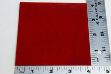 """0124.30 Opaque Red 4"""" x 4"""" x 3mm Thick Bullseye Glass 90 Coe Compatible"""